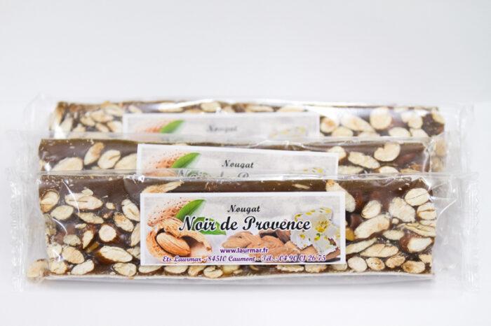 Nougat noir de Provence emballé - Comme le Nougat de Montelimar - le nougat de Laurmar est un nougat de qualité