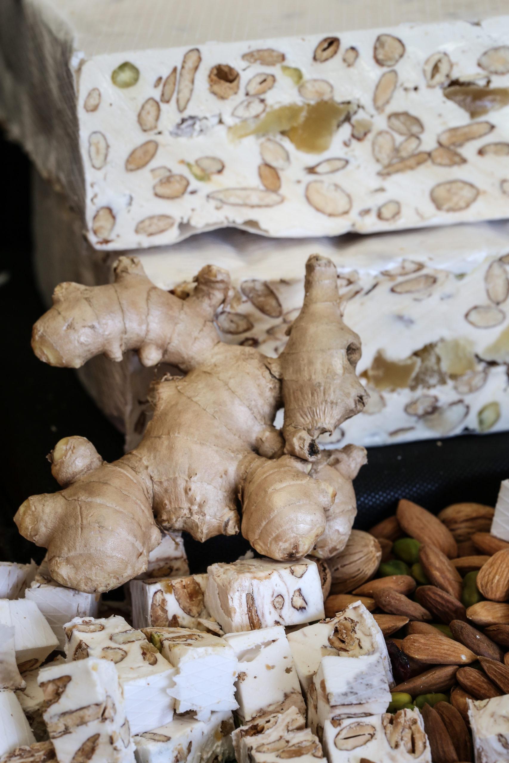 Nougat au gingembre fait avec du mail de la région et des amandes de Provence - Nougat artisanal et provençal