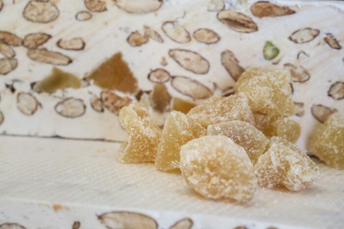 Nougat au gimgembre - Photo des cubes de grimgembre pour la préparation du meilleur nougat en vente en ligne et prix au kilo
